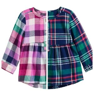 Jumping Beans Set of 2 Plaid Flannel Shirts